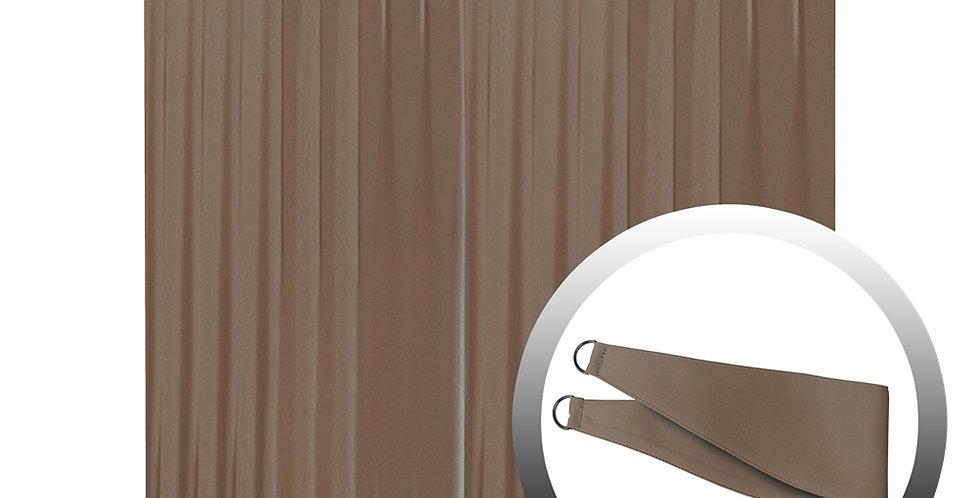 Blackout Curtain with 1 Tie, Dark Brown, 295x290cm