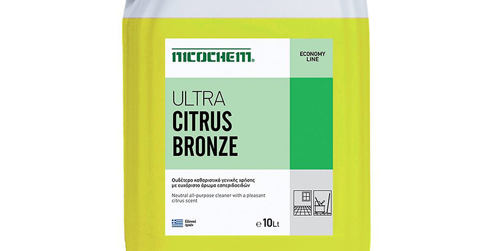 Universal Detergent Nicochem Ultra Citrus Bronze, Lemon Perfume, 10L