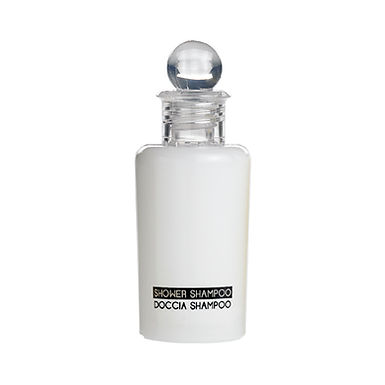 Shower Gel/Shampoo in Bottle Leone, 100pcs, White, 30ml