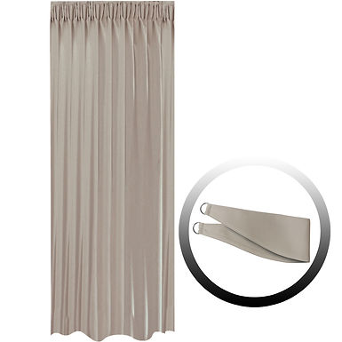 Blackout Curtain with 1 Tie, Middle Brown, 144x290cm