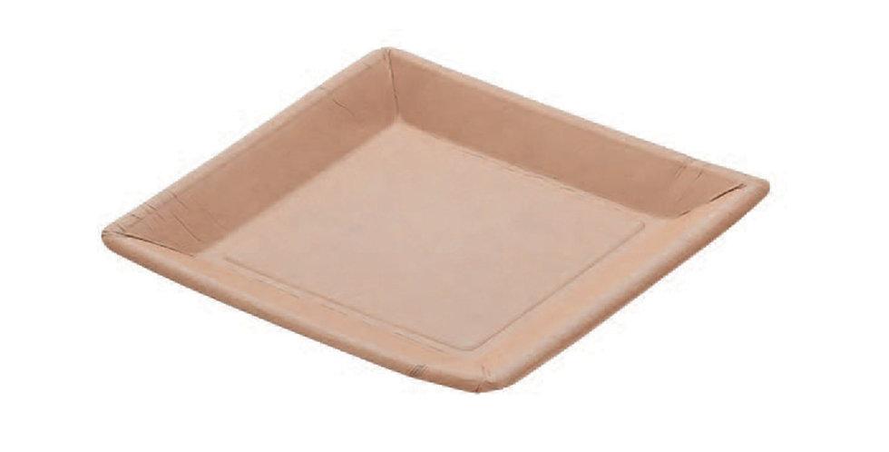 Square Plate Leone, Biodegradable Virgin Fiber, 100 pcs, 20x20cm