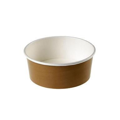 Salad Bowl Leone, Paper+PE, Kraft, 24 pcs, Ø15x6cm, 750ml