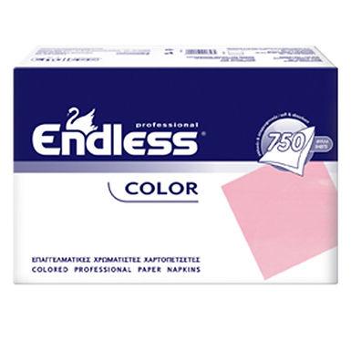 Professional Napkin Endless, Pink, 1ply, 730gr, 750pcs, 24x24cm
