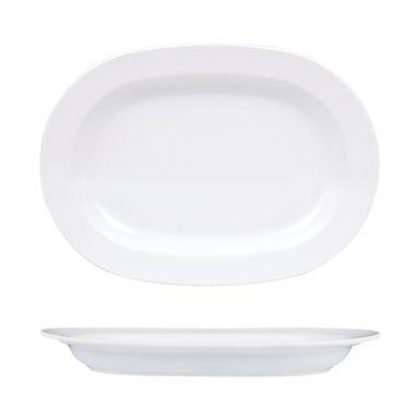 Oval Plate Gural Porselen Venus, Porcelain, White, 4 Sizes