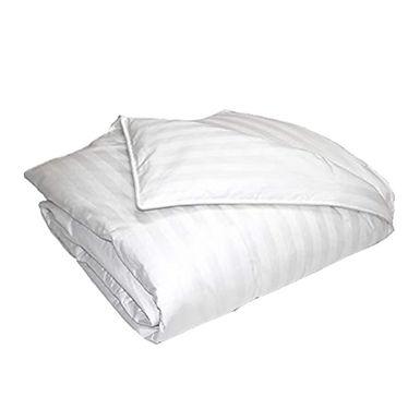 Single Quilt, Satin Stripe White, Cover 100% Cotton, Quilt 400gr/m², 152x240cm