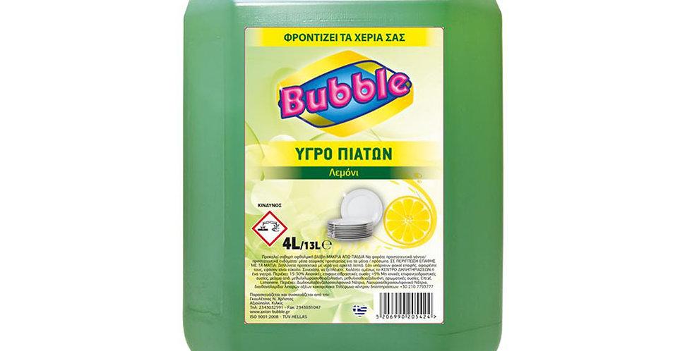 Liquid Dishwashing Detergent Bubble, Green Apple Perfume, 4L
