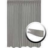 Blackout Curtain with 1 Tie, Dark Gray, 295x290cm