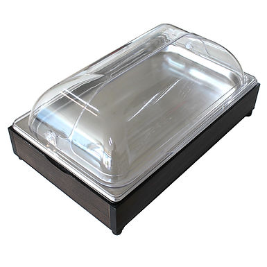 Buffet Tray Set, with Inox Tray, with Roll Top Lid, Rectangle, GN1/1