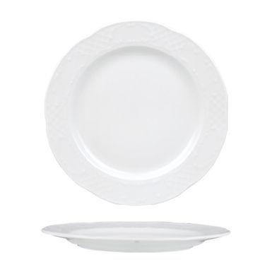 Flat Plate Gural Porselen Flora, Porcelain, White, 5 Sizes
