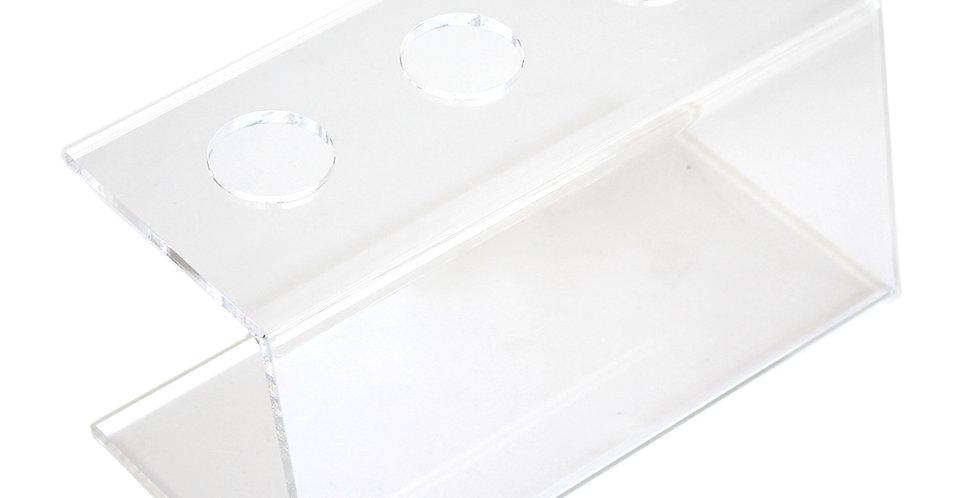 Holder for 3 Cornets, Plexiglass, 23x10x11.5cm