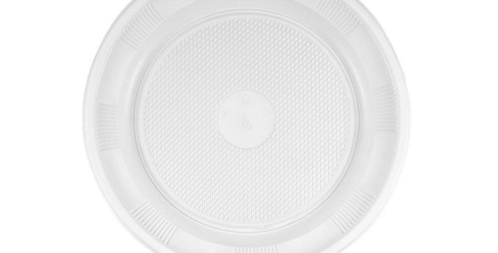 Disposable Plate, White, PS, Ø21cm
