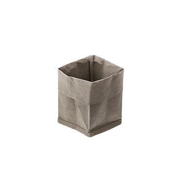 Bread Basket Leone, Paper, Green, 1 pc, 9x9x16cm
