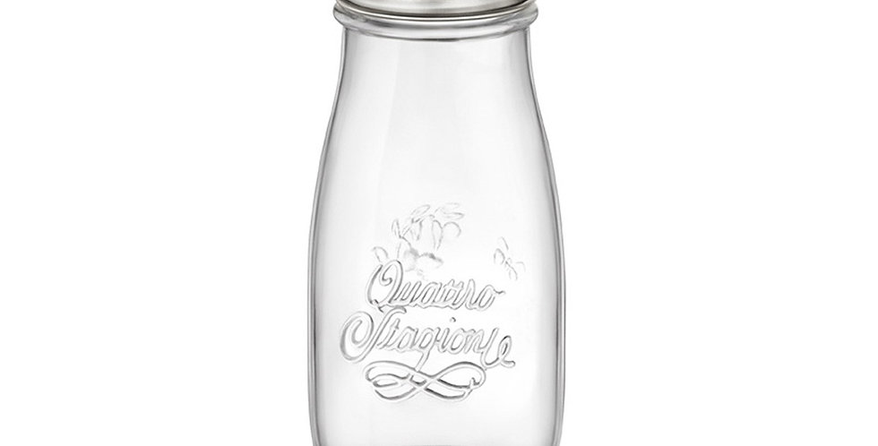 Bottle Quattro Stagioni I Genietti, with Lid for Straw, 400ml