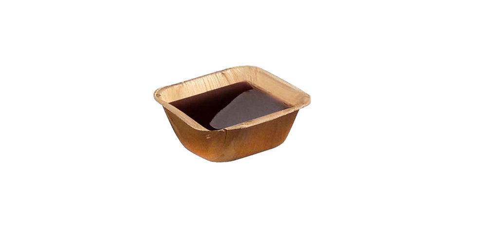 Disposable Dip Bowl First Pack, Square, Biodegradable, Palm Wood, 6.3x6.3x3cm