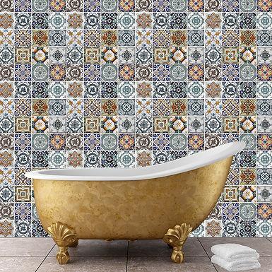 Mediterranean Tiles WALPLUS, Sticker, 108x108cm
