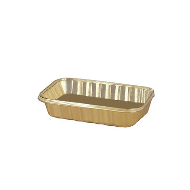 Takeaway Box for Confectionary Erremme, PP, Gold Color, 20x13x5cm