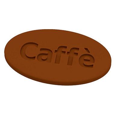 Caffè Mold Martellato Choco Tag, Thermoformed Plastic, 12 pcs, 50x30x3mm