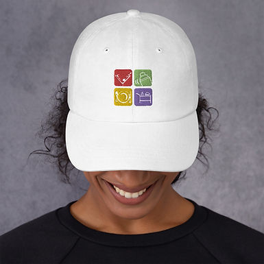 Dad hat with Custom Embroided Logo, 9 Colors, 1 Size
