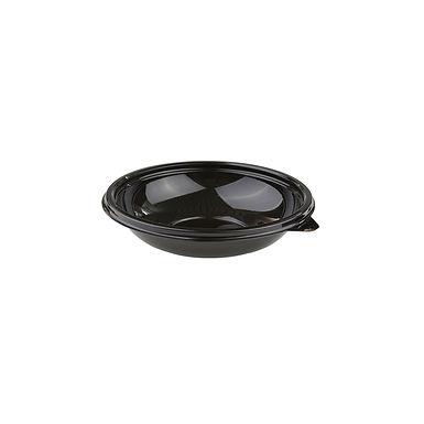 Disposable Takeaway Box Sabert, Round, Black, PET, Ø14x3cm, 250ml