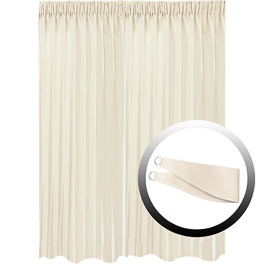 Blackout Curtain with 1 Tie, Beige, 295x290cm