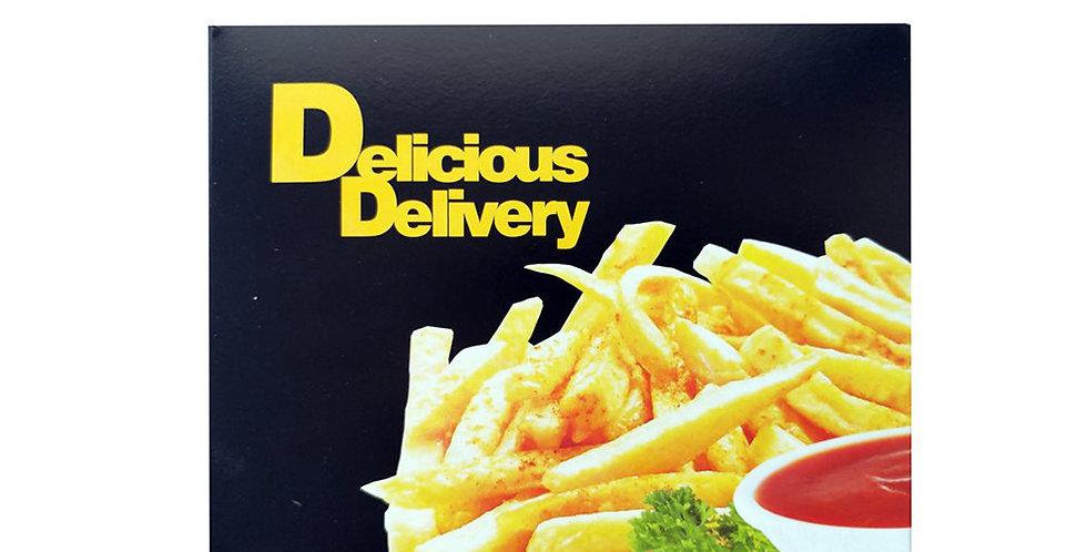 Takeaway Boxes, Paper, Aluminum Coated, Black Decor, 12 Sizes, Price Per Kg