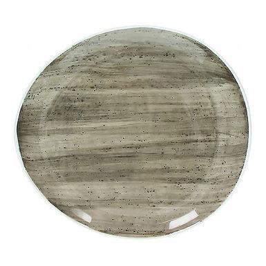 Flat Plate Tognana B-Rush Grey, Porcelain, Oval, 4 Sizes