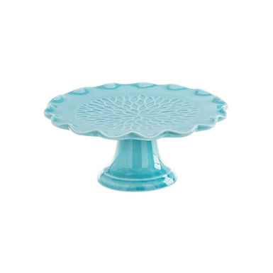 Cake Stand Leone Dali, Stoneware, Blue, 1 pc, Ø18.5x8cm