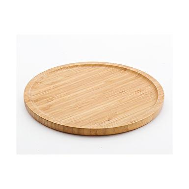 Round Tray Leone, Bamboo, Natural, 1 pc, Ø24x1.5cm