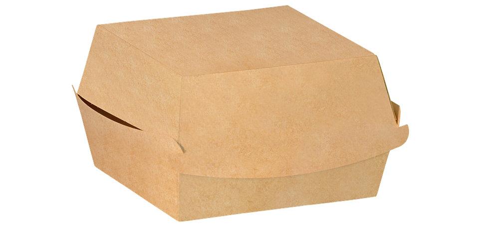 Medium Burger Box, Kraft Paper, 10x10x7cm