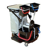 Mopping Trolley Diversey, with Press, 2x15L and 2x6L Buckets, 120L Bag w/lid