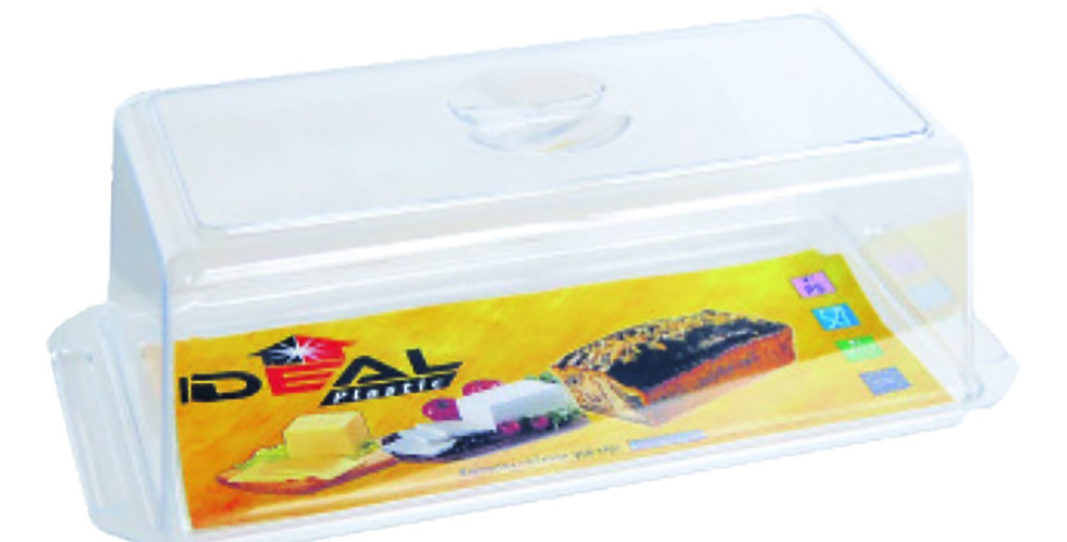 Cake Tray, with Lid, Plastic, Rectangle, Transparent, 33x12x11cm