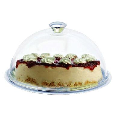 Cake Tray, with Lid, Round, Inox, Ø30cm