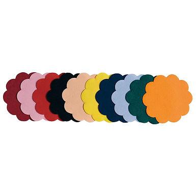 Coaster Leone, Paper, Mixed Colors, 250 pcs, Ø9cm