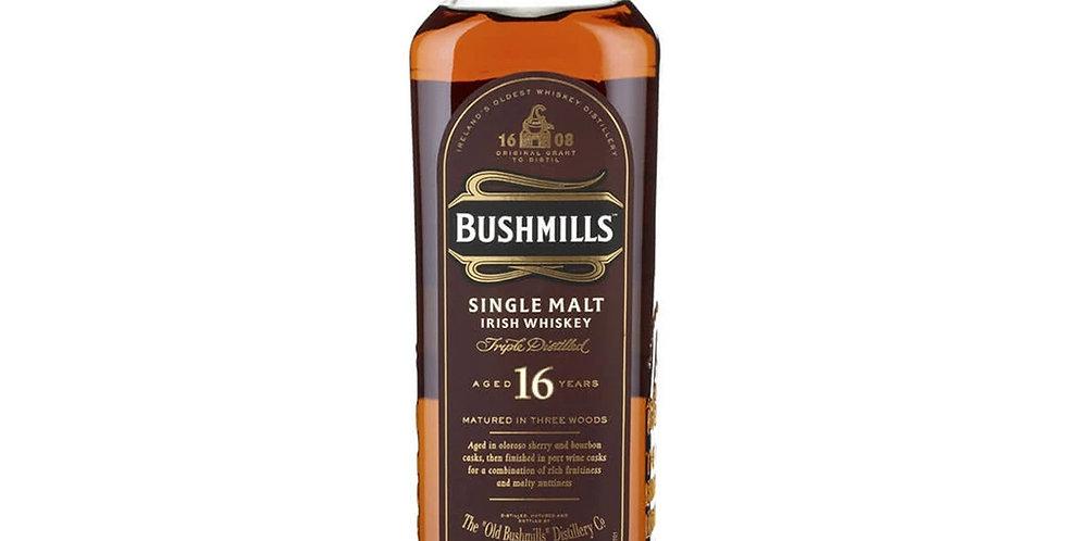 Bushmills Aged 16 Years Irish Whiskey, 700ml
