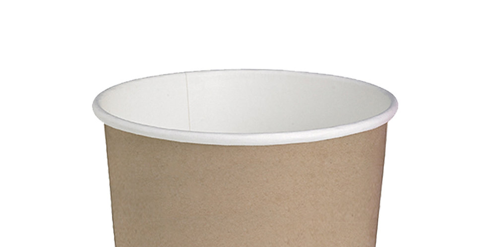 Disposable Cup First Pack, Kraft Paper, Biodegradable, Ø11.4cm, 650ml