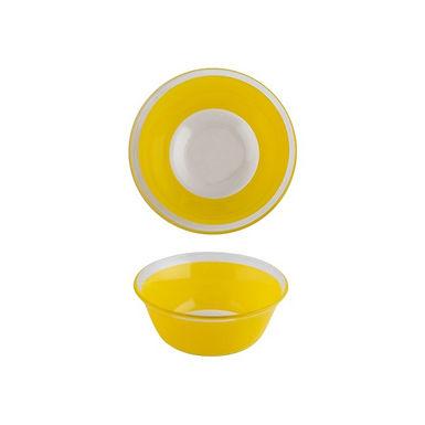 Bowl CoK Deco, Glass, Yellow, Ø12.5cm