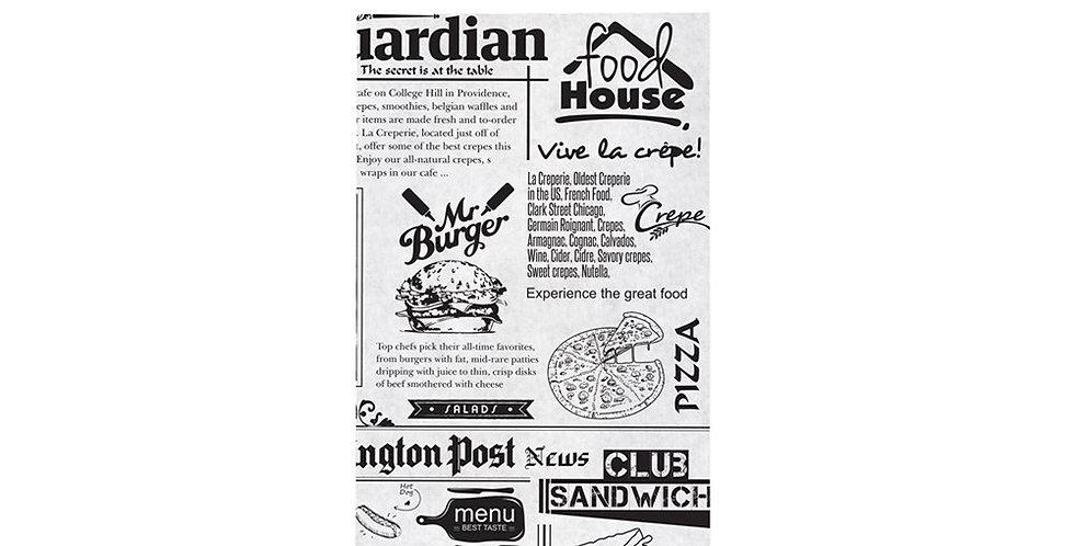 Paper Sheet for Food, Newspaper Design, 17.5x28cm, 1kg