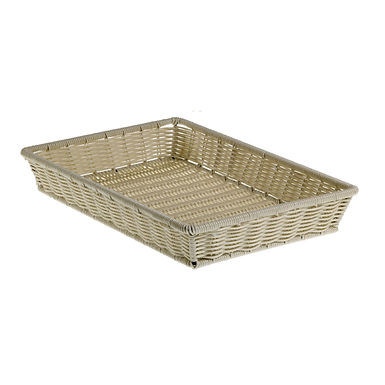 Basket Leone, Polypropylene, Dove Grey, 1 pc, 41.5x28x8cm