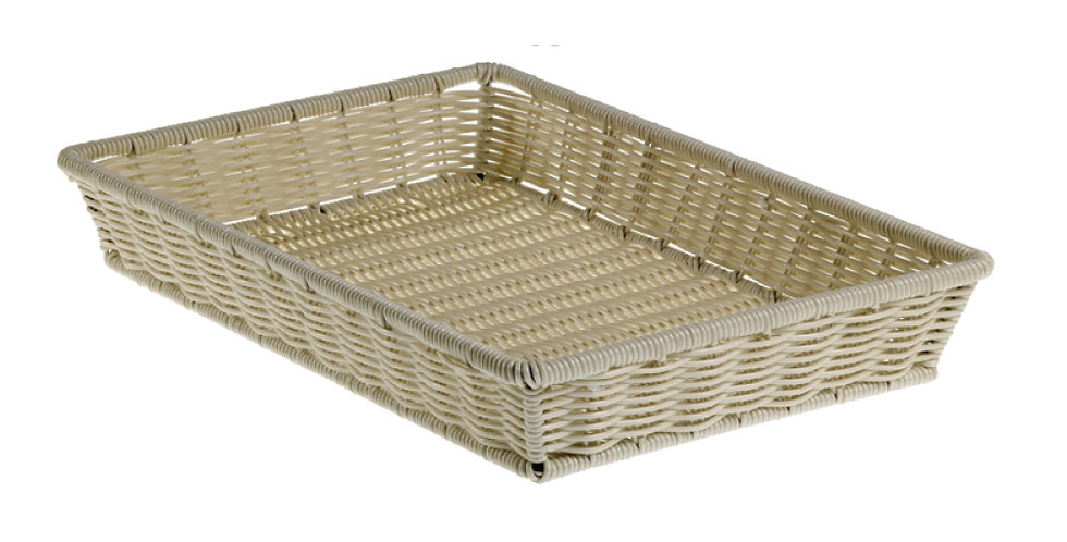 Basket Leone, Polypropylene, Dove Grey, 1 pc, 52.5x32.5x8cm
