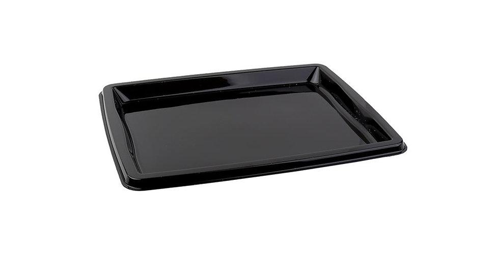 Disposable Platter Sabert, Rectangle, PET, Black, 32.5x26.5x2cm