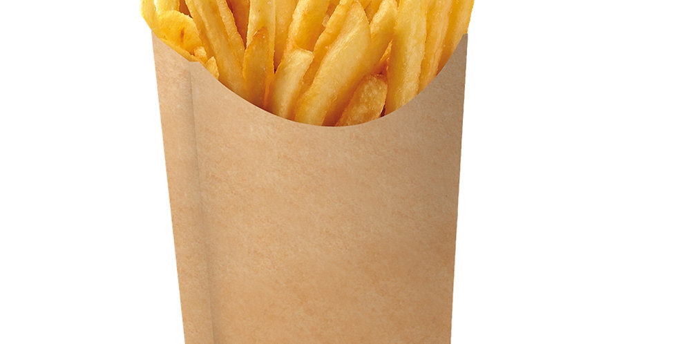 Disposable Paper Pack for Fries, Kraft, 9x4x10cm