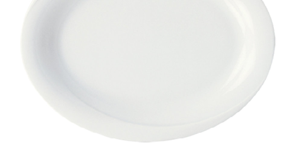 Oval Plate Gural Porselen X-Tanbul, Porcelain, White, 4 Sizes