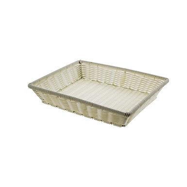 Basket Leone, Polypropylene, White, 1 pc, 32.5x26x6cm