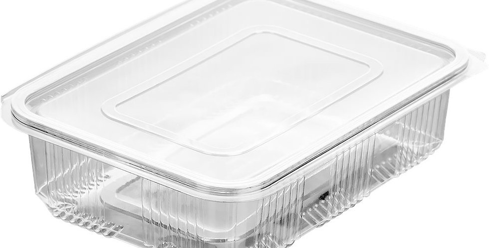 Disposable Takeaway Box, with Lid, PET, 23x17.5x8.5cm, 2000ml