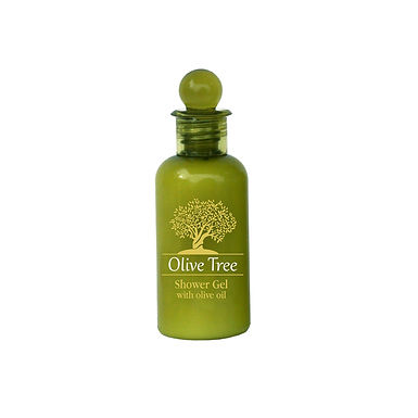 Olive Oil Shower Gel Olive Tree, Green Bottle, 40ml