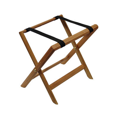 Luggage Rack, Foldable, Wooden, Light Brown, 50x38cm