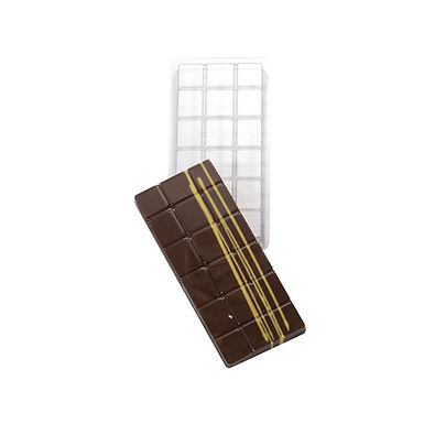 Chocolate Bar Mold Martellato Chocobar, Thermoformed, 5 pcs, 130x55x8mm, 70g