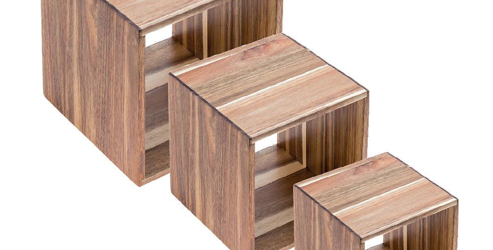 3 Pcs Cube Display Set Leone, Acacia, 1 set, 13cm³ - 18cm³ - 23cm³