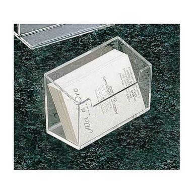 Card Holder Leone, Plexiglass, 10x6.5x4.5cm