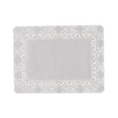 Rectang. Coaster Leone, Glazed Paper, Lace, 100 pcs, ex. 40x50cm, in. 26x36.5cm